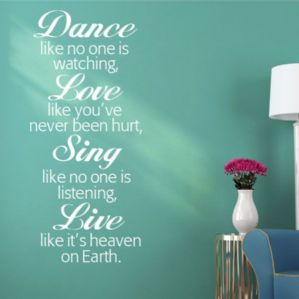 dance like no one s watching wall sticker decals